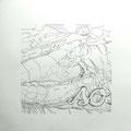 111014 - so (Hokusai) - 2014 - Bleistift - 50 cm x 50 cm