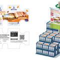 Kastenaufleger 1 Liter Flaschen und Pressebild-Montage Herbst-Promotionaktion