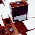 Faltspiel Give-away: Miniatur-Kommode aus festem Papier