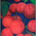 Pfirsiche, Öl/Lw., 2020, 70 x60 cm