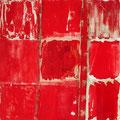 Cadmiumrot ,2005 , Materialmix , 104 x104 cm