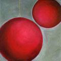 Rundes im Viereck, Öl a.Lw., 2020, 30 x30 cm