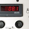 LED-Anzeige für die Spanabnahme: Drucktaster für elek. Tischverstellung