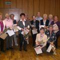 Die Gründungsmitglieder unseres Frauenchores beim 25-Jährigen Bestehen