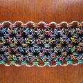 Stainless Steel & Nobium: Multi-color mini J-Lace cuff
