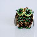 Mini Owl - Brown & Emerald Green