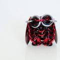 Mini Owl - Red & Brown