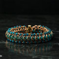 Bronze Teal with teal beads
