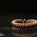 Bronze Red with frost beads