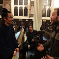Meeting the audience at St John's