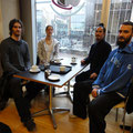 Master Yuan with his students Benjamin from England, Juan from Spain and Rachael from Edinburgh
