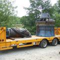 Transport zum Kleinwasserkraftwerk