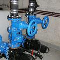 Horizontale Aufstellung der Pumpen