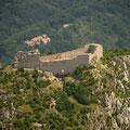 Vue aérienne du château de Montségur