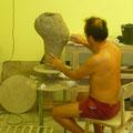 Symposium de sculpture en Hongrie avec Aurélie et Philou