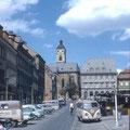 Marktplatz mit blick auf die Johanniskirche im Juni 1959