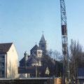 Heilig-Geist-Kirche gesehen von der Hirtengasse im Februar 1959