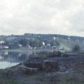 Blick vom Bootshaus auf die Peterstirn im Oktober 1958