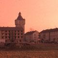 Das Bergl entsteht... Wasserturm im November 1959