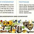 Einladung zum LETZTEN SKF WIESENFEST 1966. Innenseiten. © SKF Group