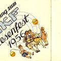Einladung zum SKF Wiesenfest 1956. Vorderseite. © SKF Group