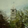 Heilig-Gesit-Kirche noch mit Steindach