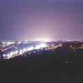Schweinfurt bei Nacht - Blick von der Peterstirn im Dezember 1958