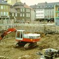 Bau Tiefgarage 1986