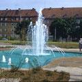 Brunnen an der Berufschule im April 1959