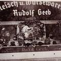 Metzgerei Geeb um 1938