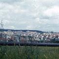 Blick auf Stadtteil Hochfeld von der Rhönstraße im Juni 1959