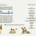 Einladung zum SKF Wiesenfest 1954. Innenseiten. © SKF Group