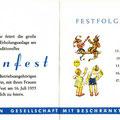 Einladung zum SKF Wiesenfest 1955. Innenseiten. © SKF Group