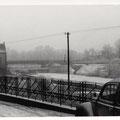 Maxbrücke und E-werk im Januar 1951