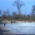 Die städt. Eisbahn an der Ludwigsbrücke Februar 1959