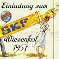 Einladung zum SKF Wiesenfest 1957. Vorderseite. © SKF Group