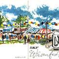 Einladung zum SKF Wiesenfest 1962. Vorder- u. Rückseite. © SKF Group
