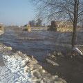 Hochwasser am Leinpfad im Januar 1978