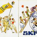 Einladung zum SKF Wiesenfest 1955. Vorder- u. Rückseite. © SKF Group
