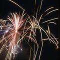 Letztes Volksfest auf dem Bleichrasen im Juni 1959 - Feuerwerk
