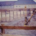 Bau der Tiefgarage 1989