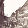 Blick von der Johanniskirche zum Marktplatz