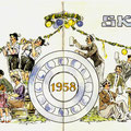 101a Einladung zum SKF Wiesenfest 1958. Vorder- u. Rückseite. © SKF Group