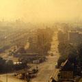 Blick vom SKF-Hochhaus auf die Hauptbahnhofstraße im März 1960
