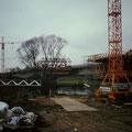 Bau der Autobahnbrücke A70 1994