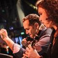 Gastmusiker an der Klarinette beim Auftritt beim FAMAB-Award 2014 im Colosseum Essen  / Fotos: Nadine Targiel