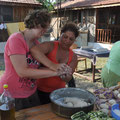Kochen mit den Campnachbarn. Cooking with our campneighbours.