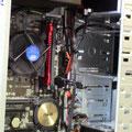 geöffenter Computer mit Blick auf Mainboard