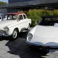 La Simca P60 de René et l'Alfa-Roméo de Pierre