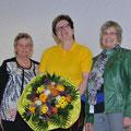 Heidi Mather 1.Vors. mit M. Grün (Vors.Bezirk) u. B. Weil (2.Vors.Bezirk)